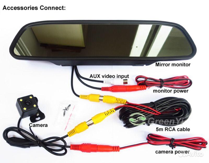 Камера заднего вида на зеркале установка своими руками