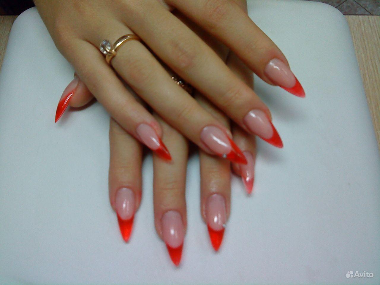 Крутые ногти фото френч красные