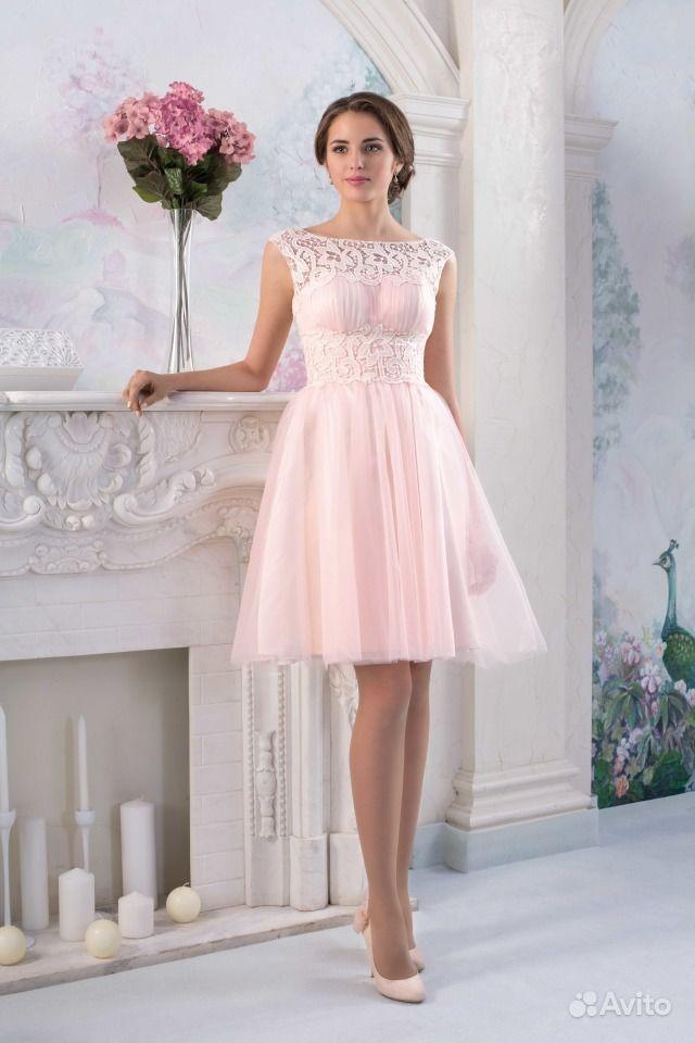 Платье вечернее короткое пышное со шлейфом спб