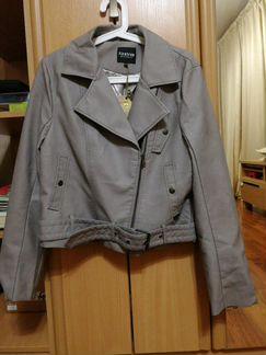 Серая куртка-косуха, новая