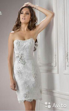 8a9b3e40e89 Короткое белое кружевное платье купить в Москве на Avito ...