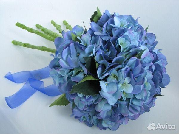 Букет голубой гортензии из 5 шт купить в Москве на Avito ... cb4cbc446910b