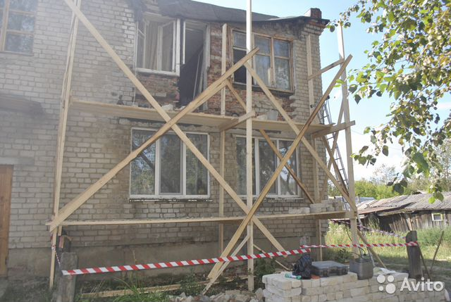 The construction of houses,baths,garages, etc