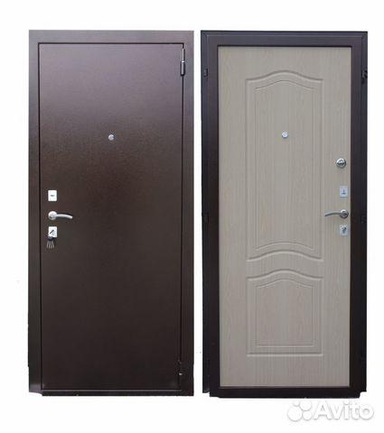 металлические двери беленный дуб