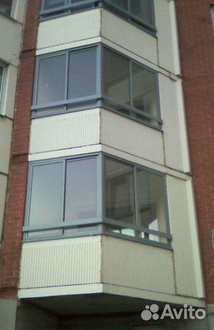 Балконные алюминиевые рамы со стеклом с новостроя festima.ru.