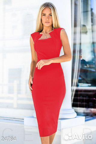6da1bacd663 Красное платье-футляр миди купить в Кировской области на Avito ...