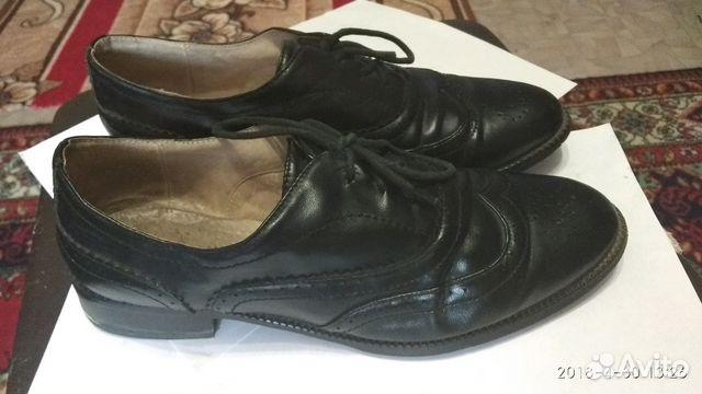 Туфли кожаные черные 89301297093 купить 1