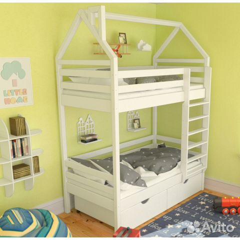 2c13697959c15 Детская двухъярусная кровать купить в Санкт-Петербурге на Avito ...