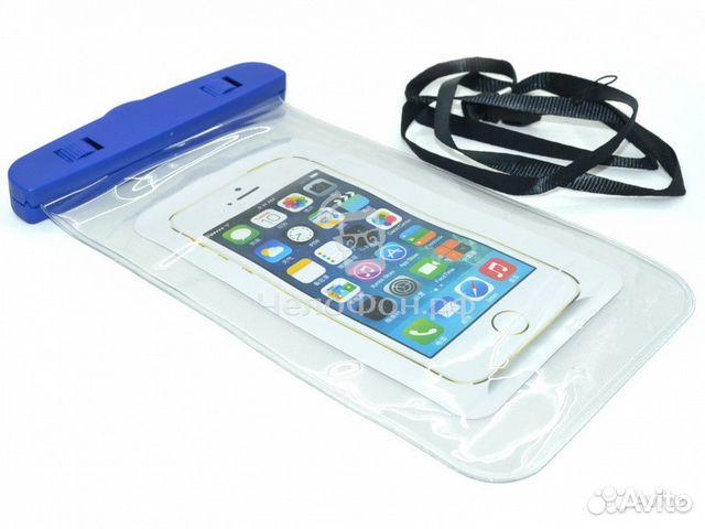 водонепроницаемый чехол для телефонов синий купить в калужской