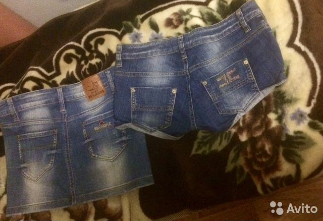 Юбка и шорты джинсовые 89648389880 купить 1