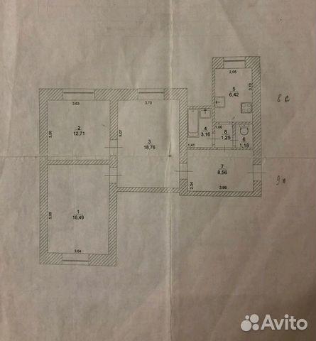 Продается трехкомнатная квартира за 2 500 000 рублей. улица Тухачевского, 36.