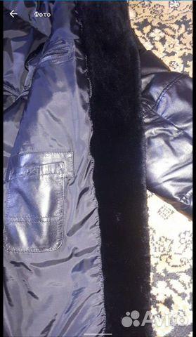 Кожаная куртка с натуральной черно 89513830222 купить 3