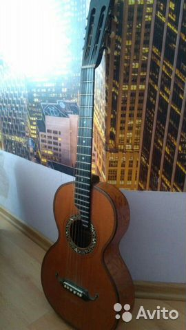 Гитара старинная мастеровая(раритет 1880 года) 89538598168 купить 2