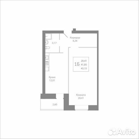 1-к квартира, 43.2 м², 5/8 эт. 89115506214 купить 1
