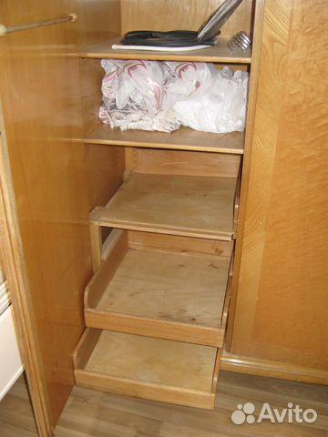 Шкаф трехстворчатый, массив ореха, шпон 89222065121 купить 9
