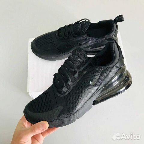 Nike Air Max 270 черные тканевые арт 16