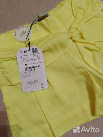 Новые шорты Zara 6 лет /116 см