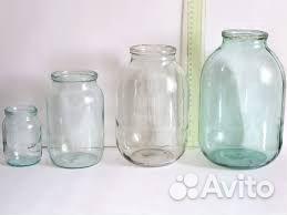 Стеклянные банки бутылки с виновой крышкой и обычн  89204122686 купить 1