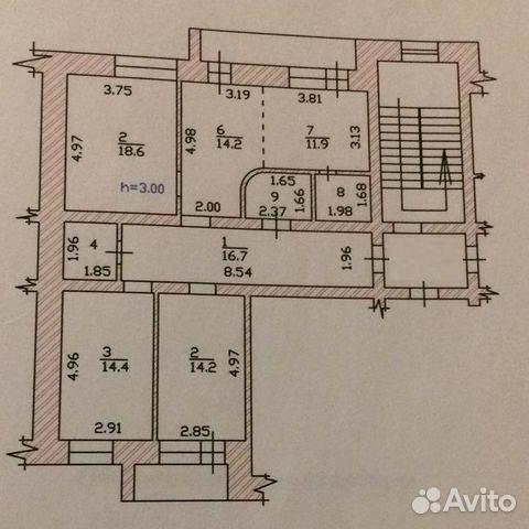 3-к квартира, 100 м², 2/5 эт.