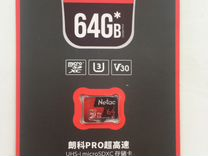 MicroSD Netac P500 Pro 64Gb V30/USH-I U3