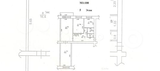 3-к квартира, 58 м², 5/5 эт. в Смоленской области | Покупка и аренда квартир | Авито