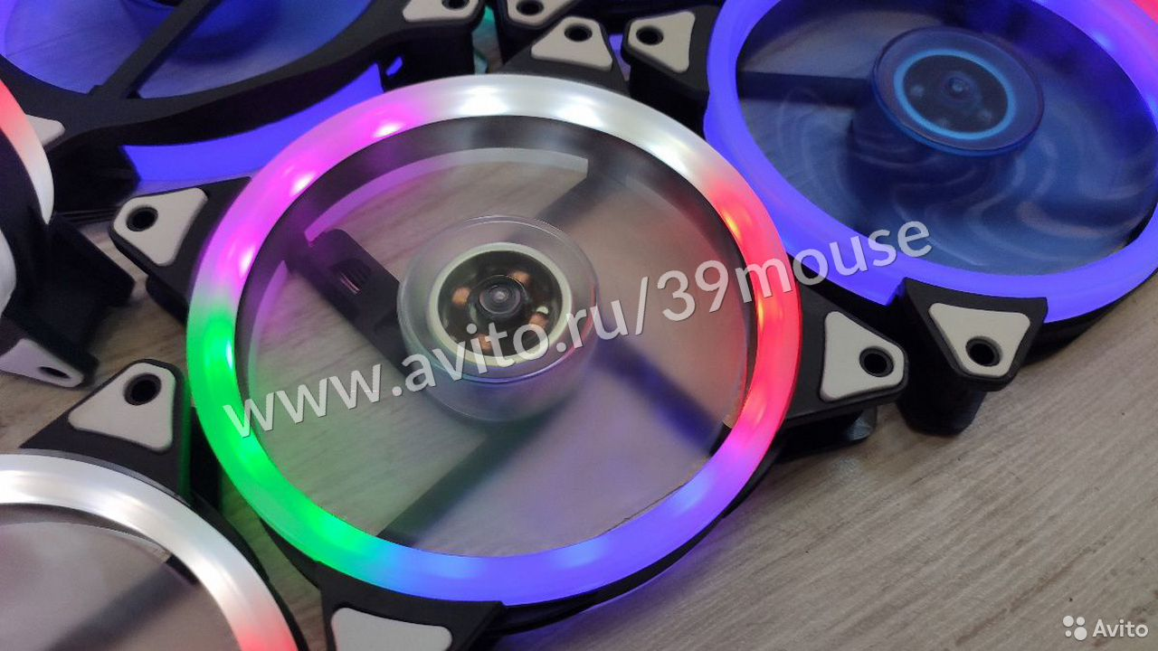 Кулер вентилятор с подсветкой RGB новые 120мм  89216108390 купить 5