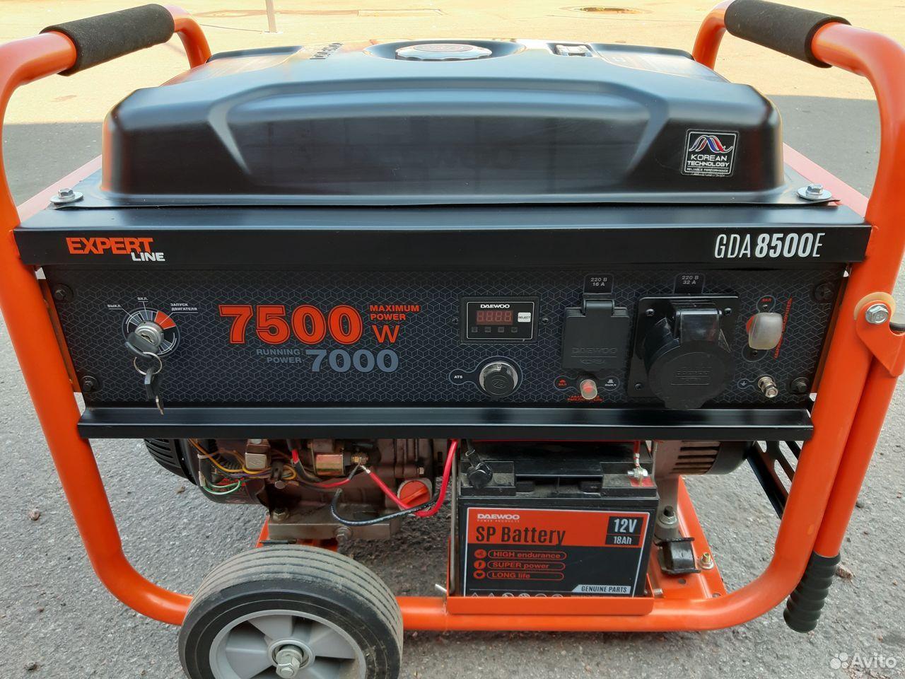 Бензиновый генератор 7500Вт