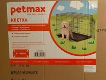 Petmax клетка 91х56х64 см. черная 2-х дверная