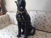 Статуя Черная пантера ahura 90 см, Италия — Мебель и интерьер в Москве