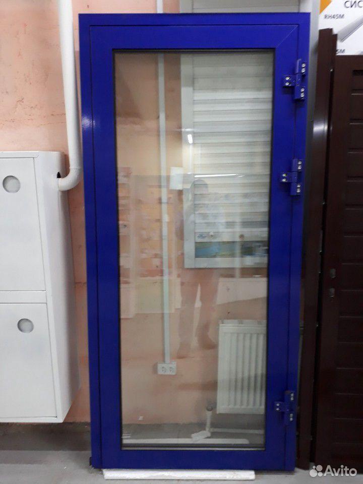 Название:Дверь алюминиевая теплая с автоматическим