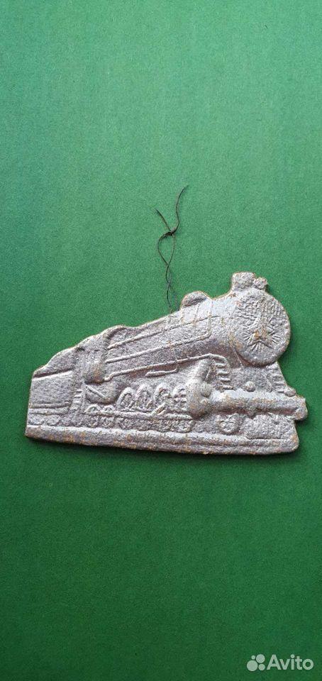 елочная игрушка (редкая) паровоз Сталин
